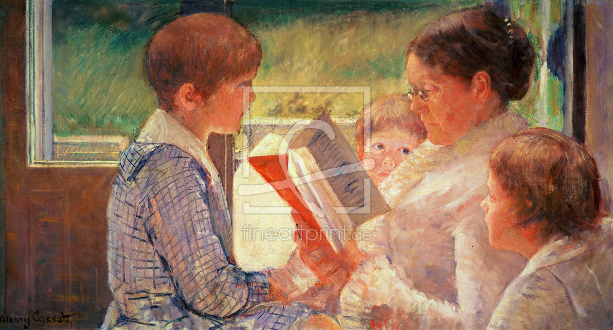 Bild-Nr.: 31000179 Mrs Cassatt Reading to her Grandchildren, 1888 erstellt von Cassatt, Mary