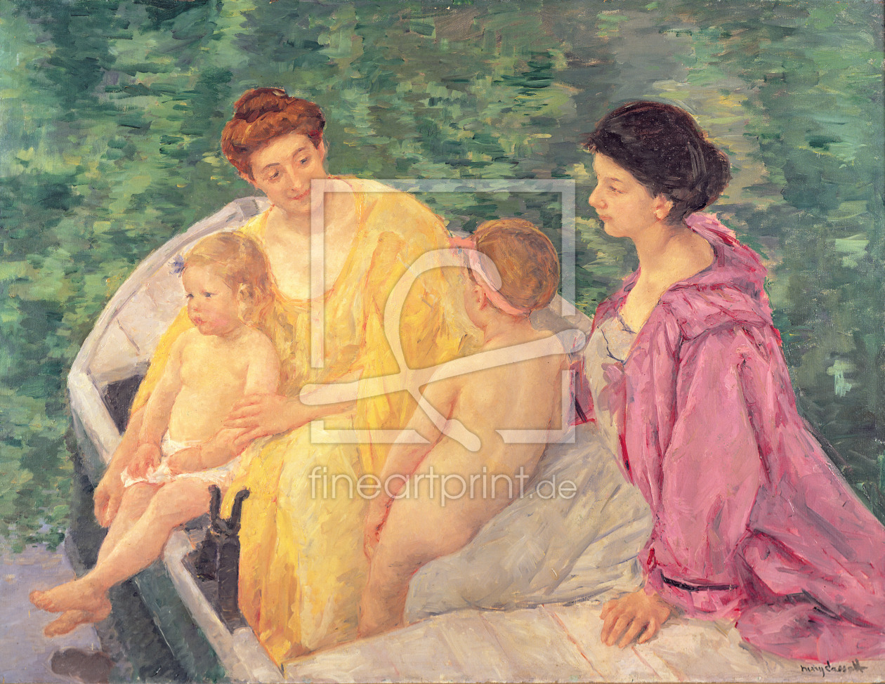 Bild-Nr.: 31000181 The Swim, or Two Mothers and Their Children on a Boat, 1910 erstellt von Cassatt, Mary