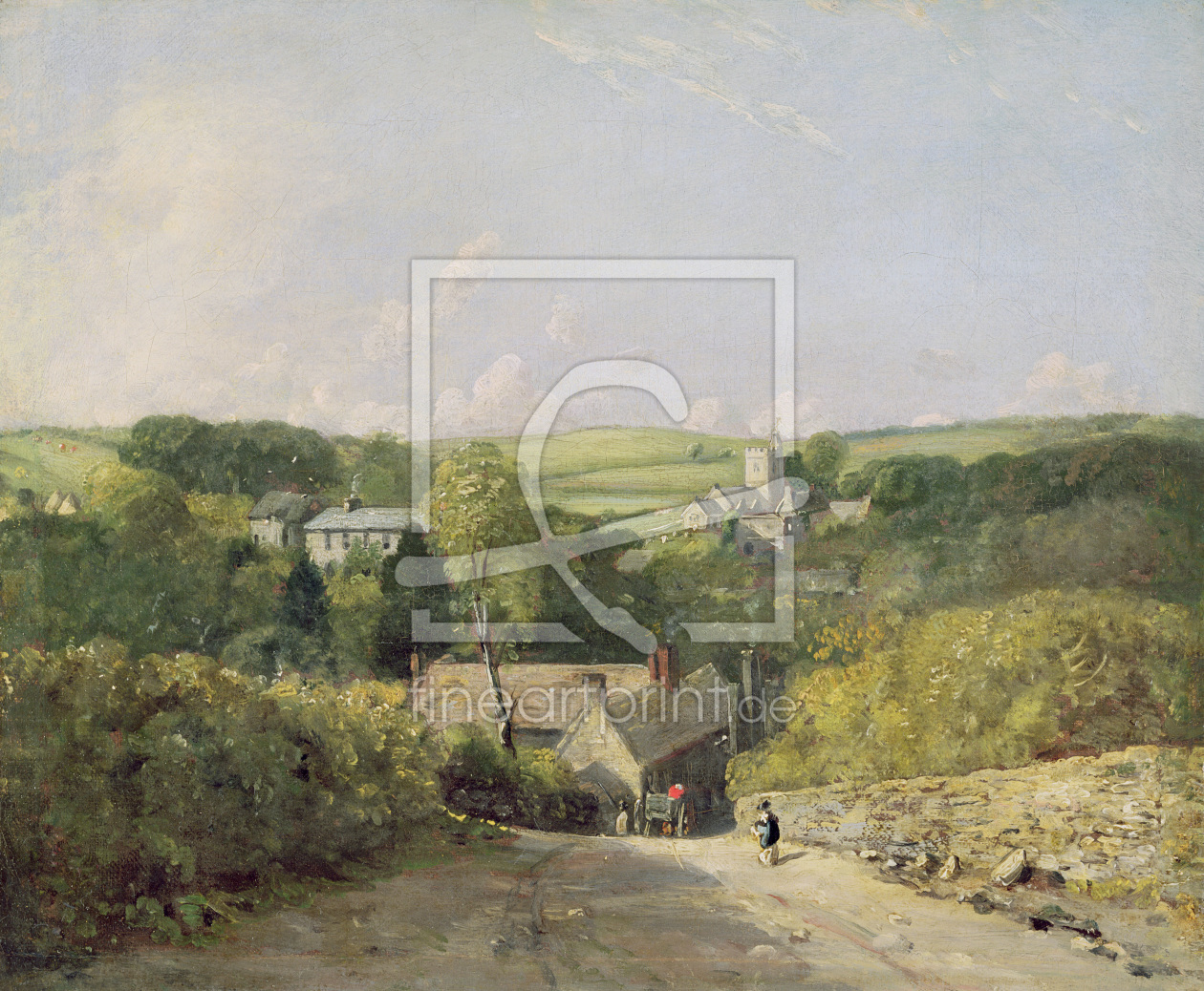 Bild-Nr.: 31000222 A View of Osmington Village with the Church and Vicarage, 1816 erstellt von Constable, John