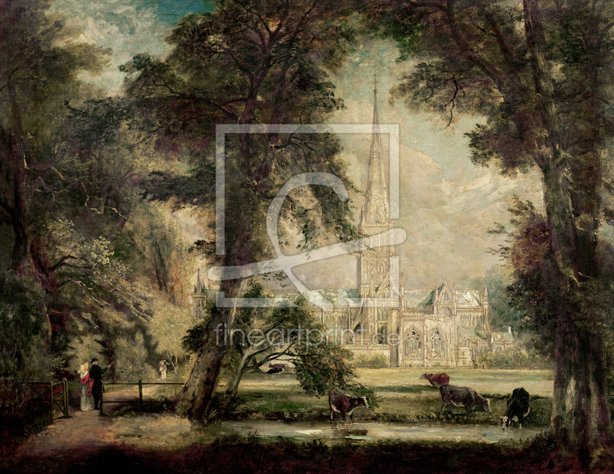 Bild-Nr.: 31000240 Salisbury Cathedral from the Bishop's Grounds, c.1822-23 erstellt von Constable, John