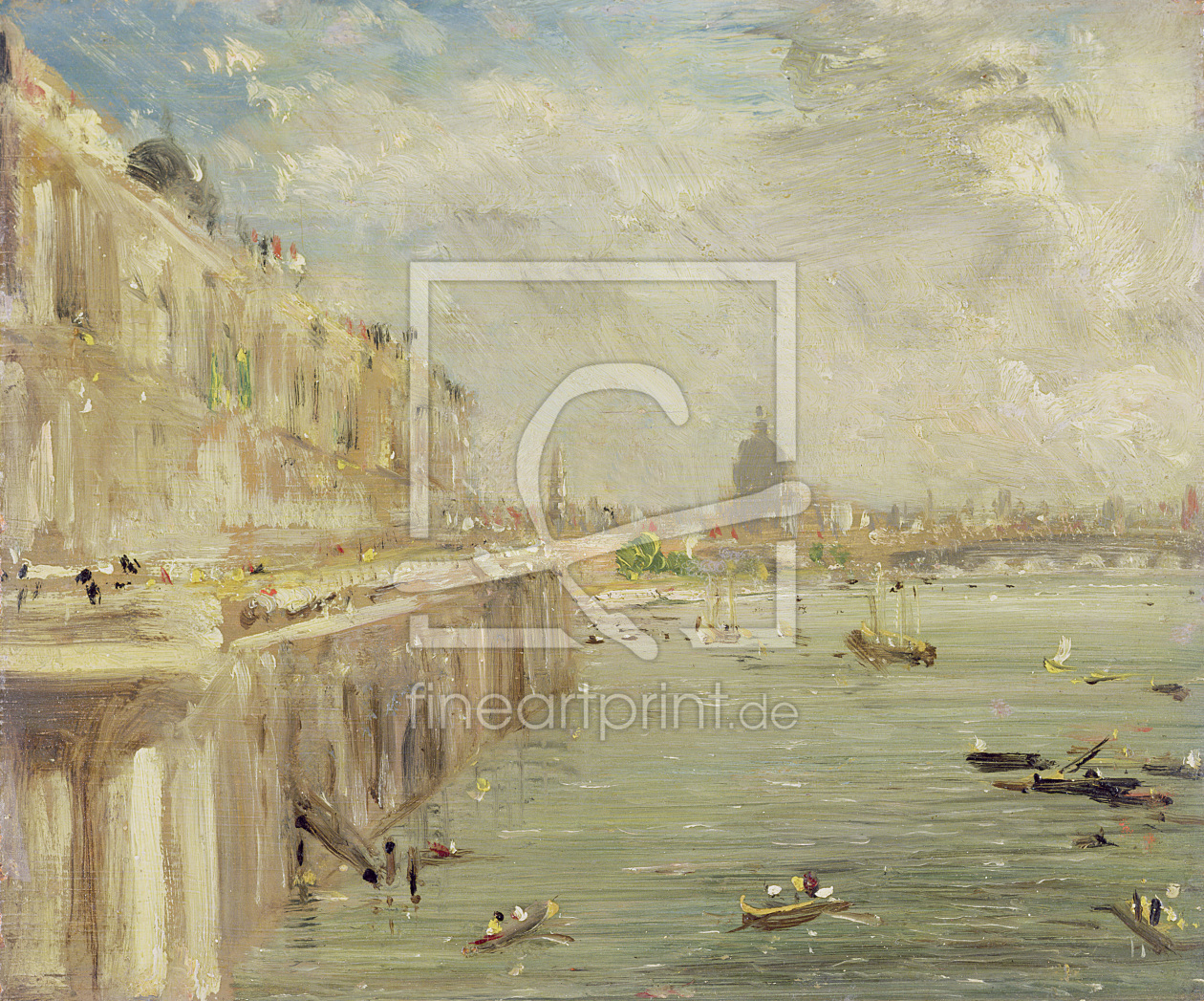 Bild-Nr.: 31000242 View of Somerset House Terrace and St. Paul's, from the North end of Waterloo Br erstellt von Constable, John