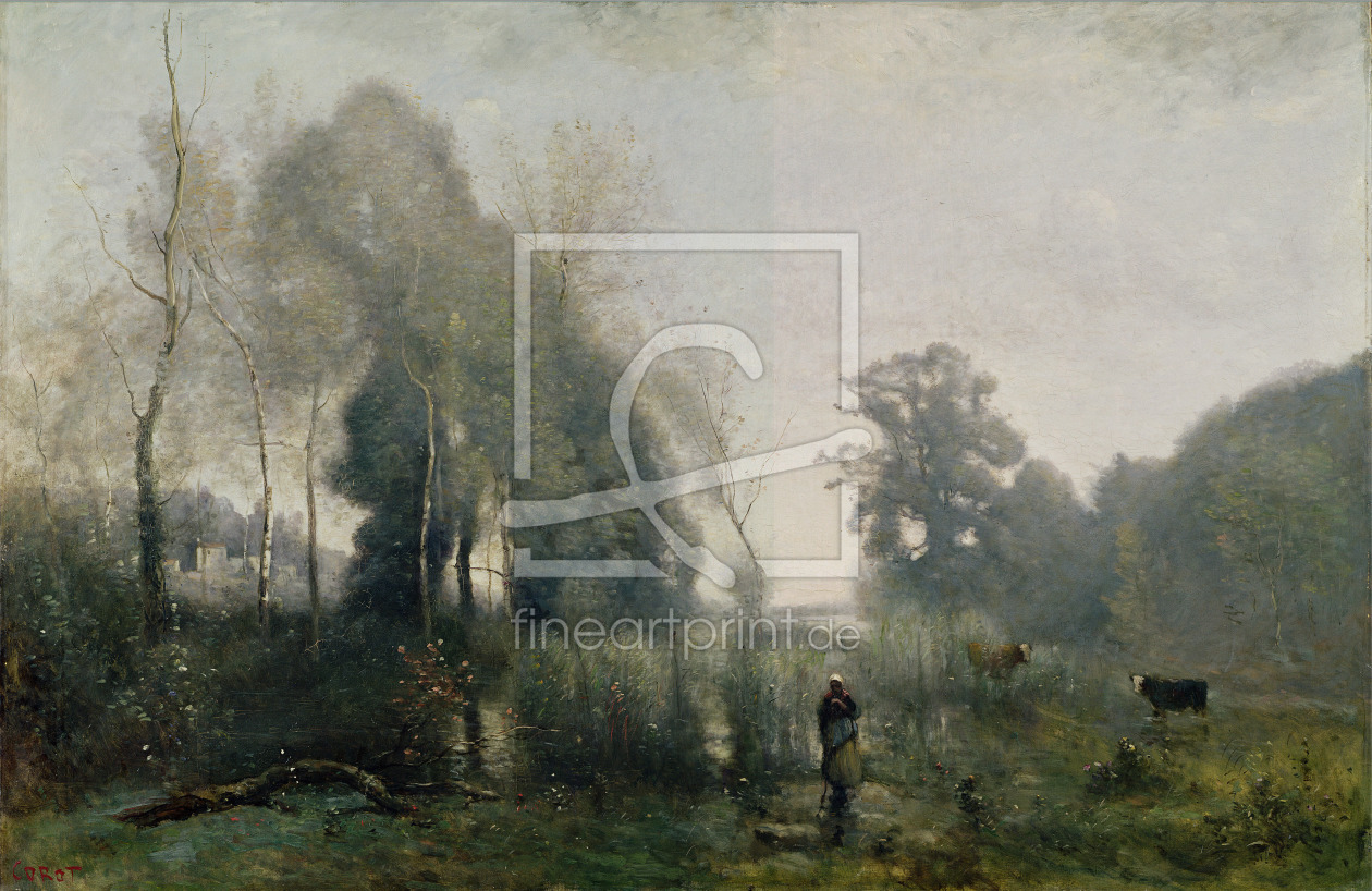 Bild-Nr.: 31000280 Morning at Ville-d'Avray or, The Cowherd, 1868 erstellt von Corot, Jean Baptiste Camille
