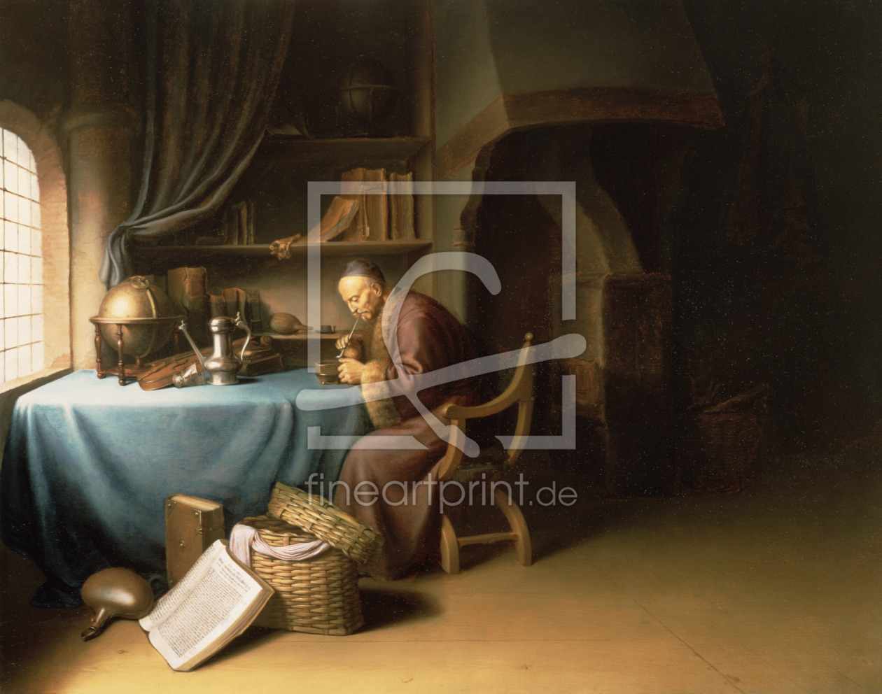 Bild-Nr.: 31000335 An Old Man Lighting his Pipe in a Study erstellt von Dou, Gerard