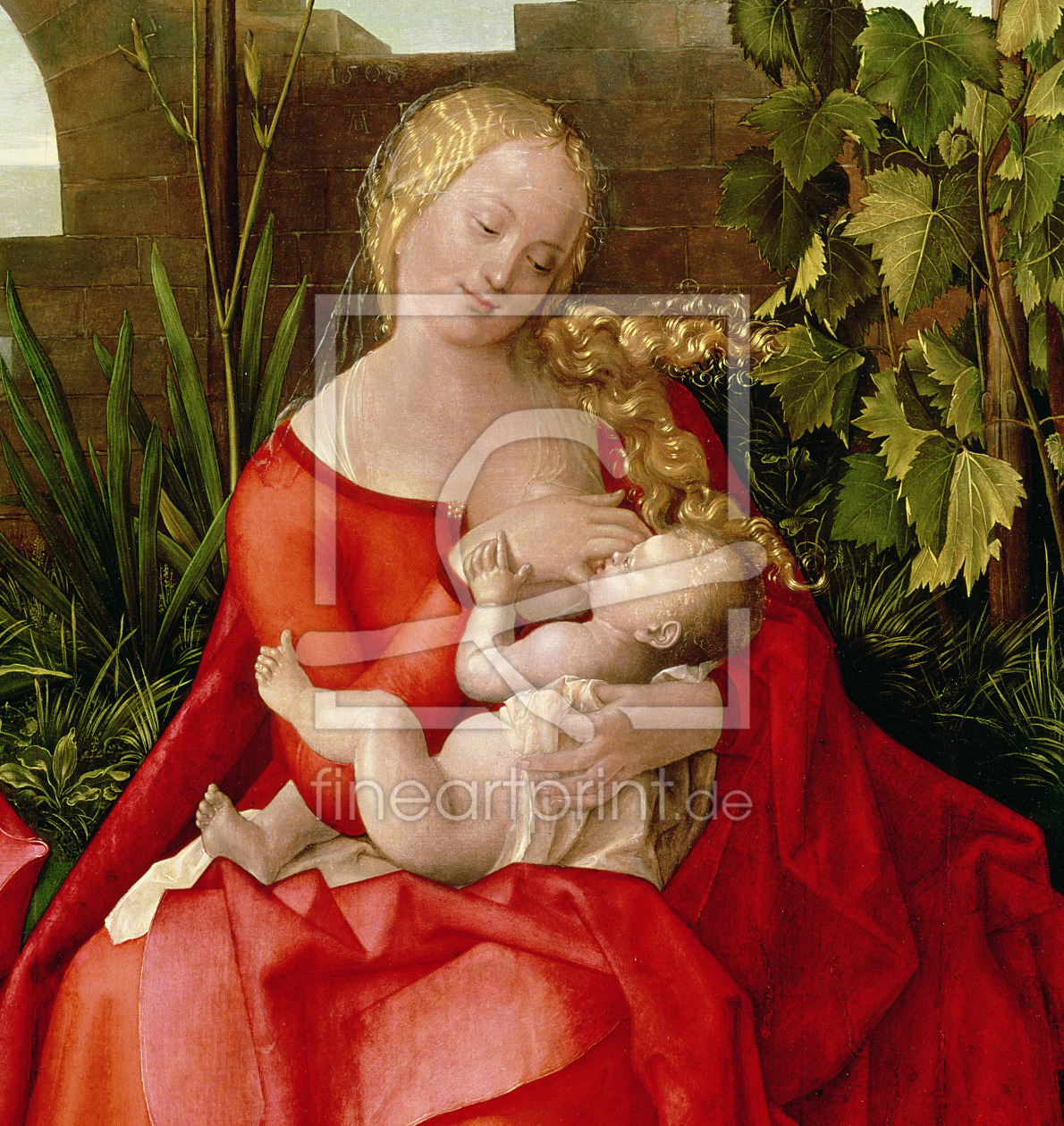 Bild-Nr.: 31000368 Virgin and Child 'Madonna with the Iris', 1508 erstellt von Dürer, Albrecht