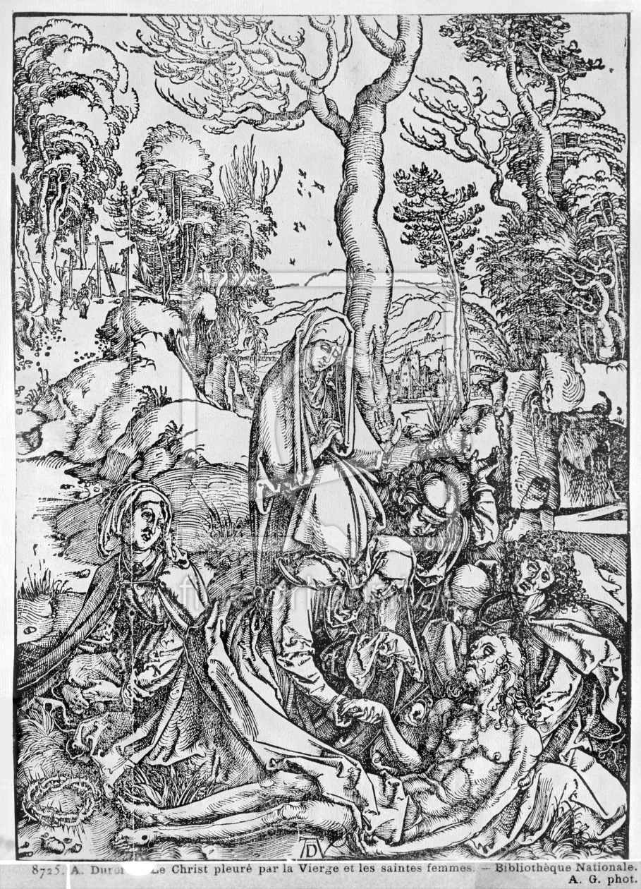 Bild-Nr.: 31000377 Christ mourned by the Virgin and the female Saints, from 'The Great Passion' ser erstellt von Dürer, Albrecht
