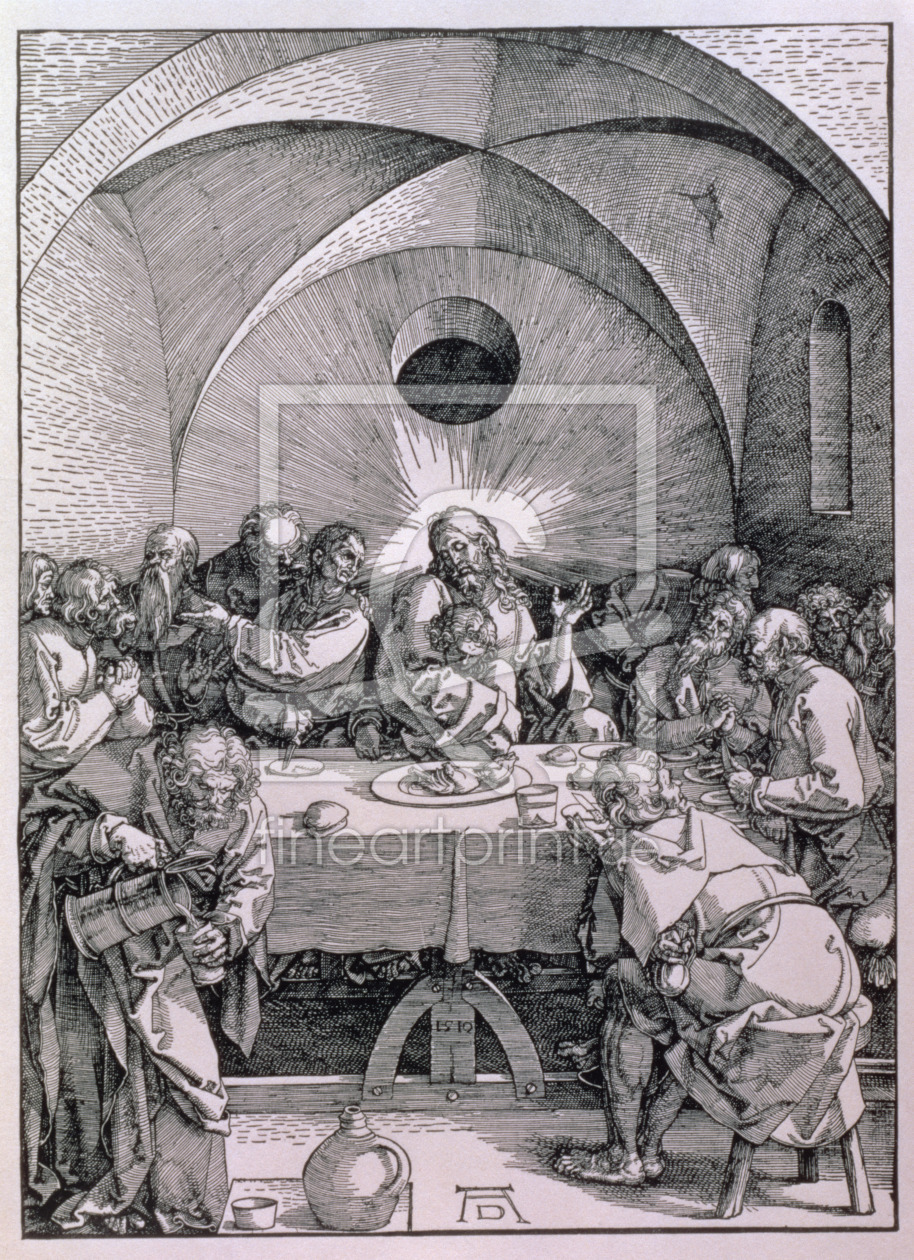 Bild-Nr.: 31000380 The Last Supper from the 'Great Passion' series, pub. 1511 erstellt von Dürer, Albrecht