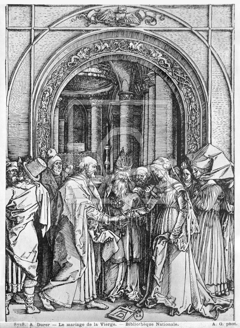 Bild-Nr.: 31000382 The marriage of the Virgin, from the 'Life of the Virgin' series, c.1504-05 erstellt von Dürer, Albrecht