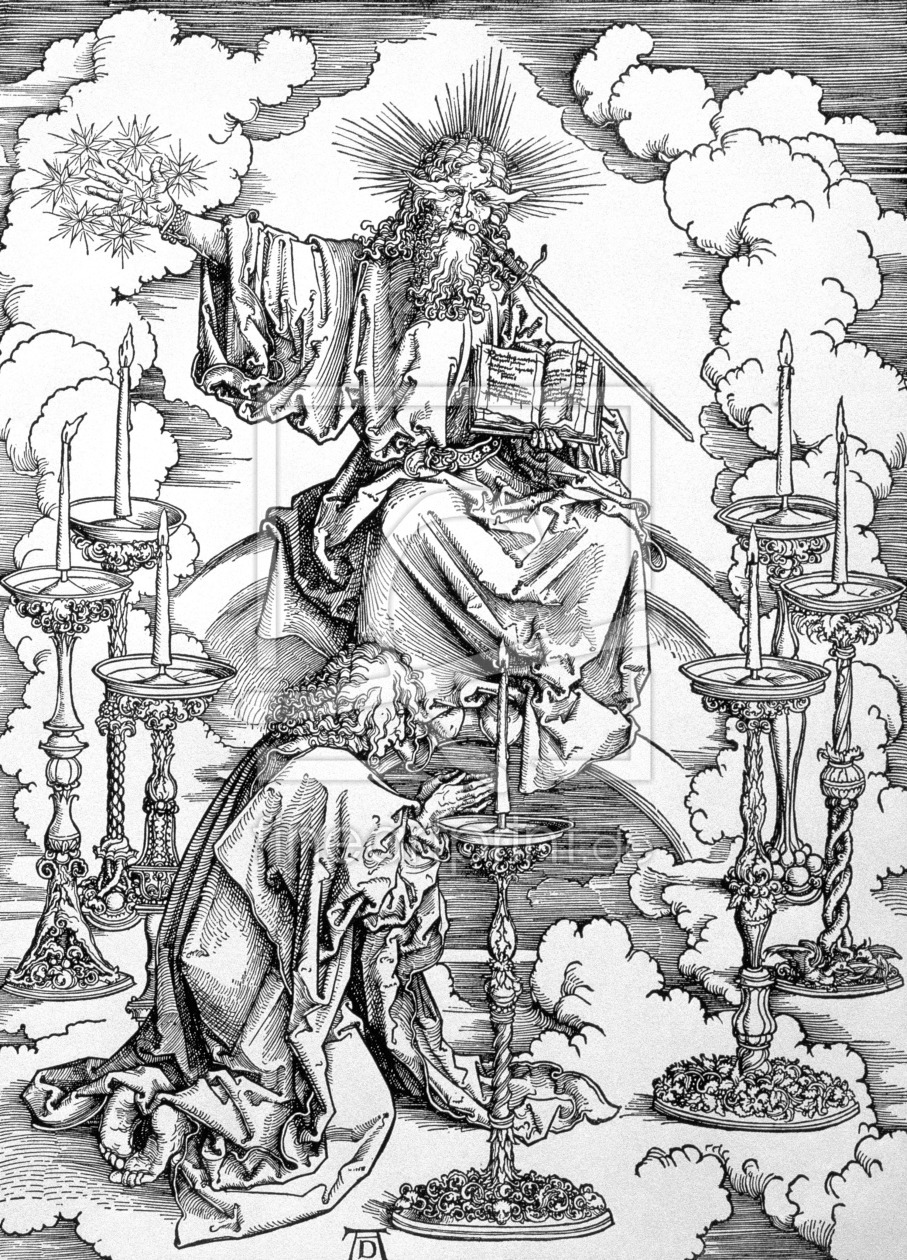 Bild-Nr.: 31000388 The Vision of The Seven Candlesticks from the 'Apocalypse' or 'The Revelations o erstellt von Dürer, Albrecht