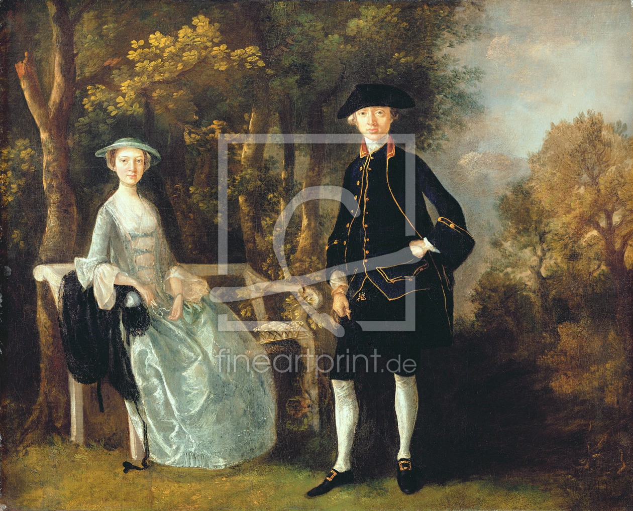Bild-Nr.: 31000439 Lady Lloyd and her son, Richard Savage Lloyd, of Hintlesham Hall, Suffolk, c.174 erstellt von Gainsborough, Thomas