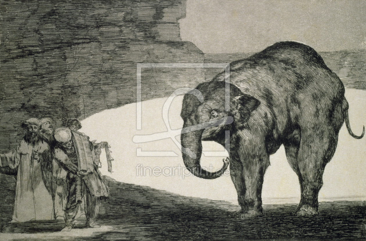 Bild-Nr.: 31000520 Folly of Beasts, from the Follies series, or Other Laws for the People, c.1815-2 erstellt von Goya, Francisco de