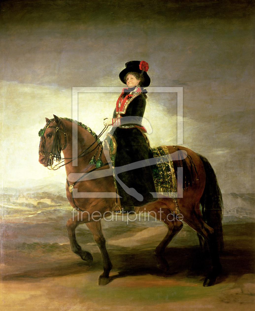 Bild-Nr.: 31000533 Equestrian portrait of Queen Maria Luisa, wife of King Charles IV of Spain, 1799 erstellt von Goya, Francisco de