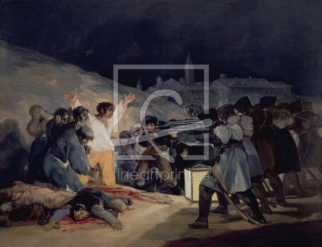 Bild-Nr.: 31000535 Execution of the Defenders of Madrid, 3rd May, 1808, 1814 erstellt von Goya, Francisco de