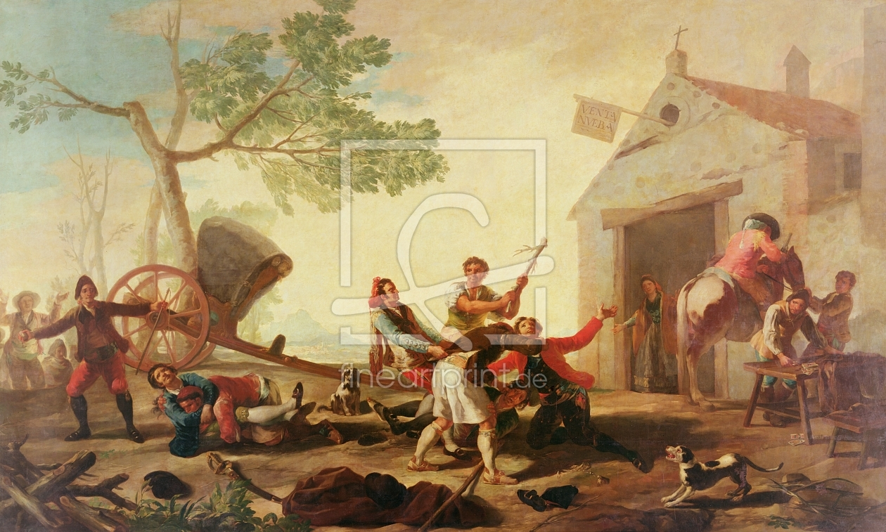 Bild-Nr.: 31000555 The Fight at the Venta Nueva, 1777 erstellt von Goya, Francisco de