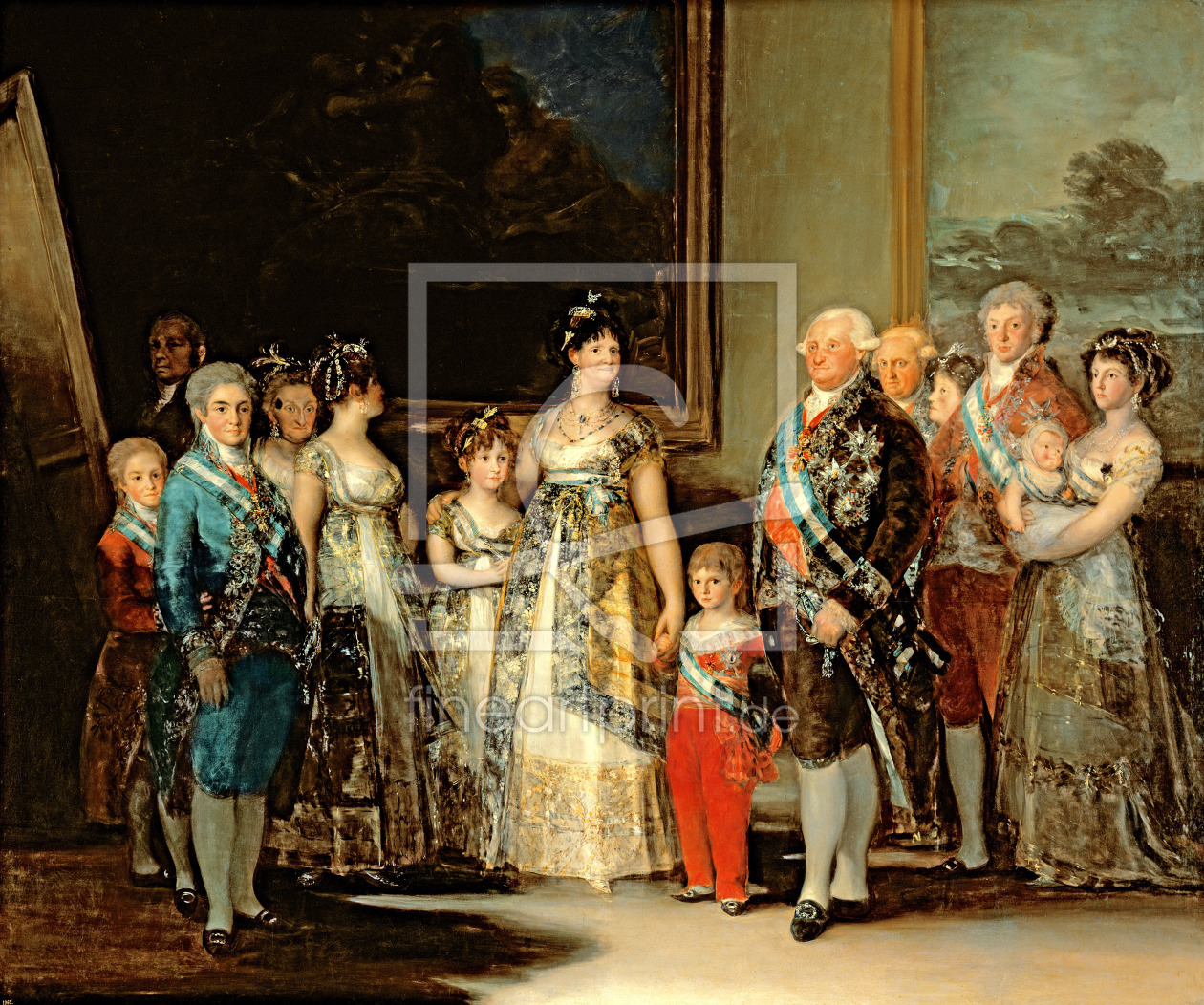 Bild-Nr.: 31000559 The King and Queen of Spain, Charles IV and Maria Luisa, with their family, 1800 erstellt von Goya, Francisco de
