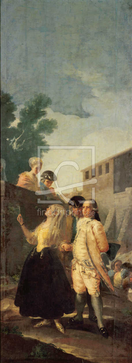 Bild-Nr.: 31000565 The Soldier and the Young Lady, 1778-79 erstellt von Goya, Francisco de