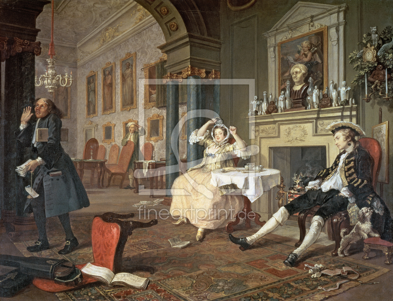Bild-Nr.: 31000645 Marriage a la Mode: II - The Tete a Tete, c.1743 erstellt von Hogarth, William