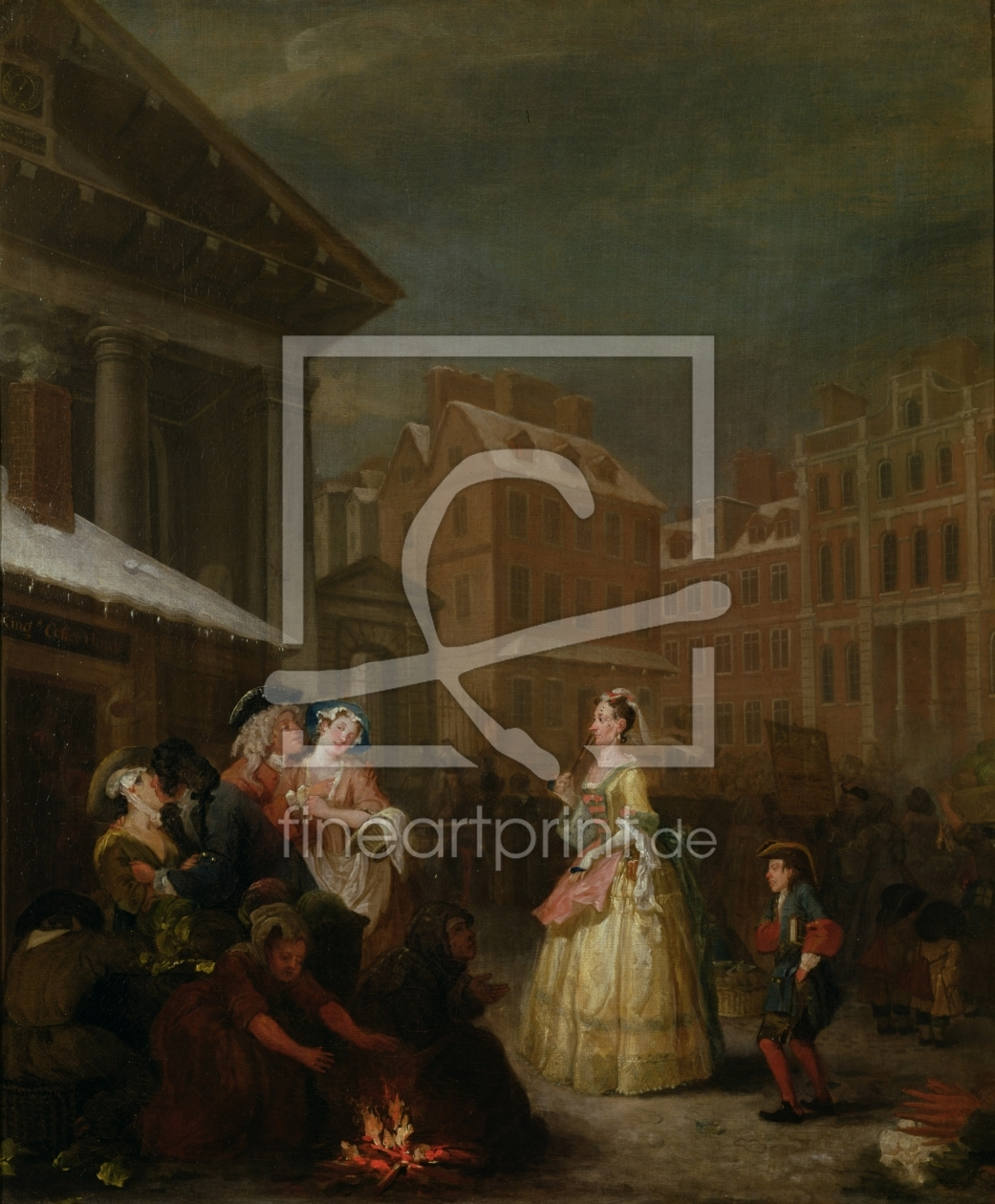 Bild-Nr.: 31000649 The Four Times of Day: Morning, 1736 erstellt von Hogarth, William