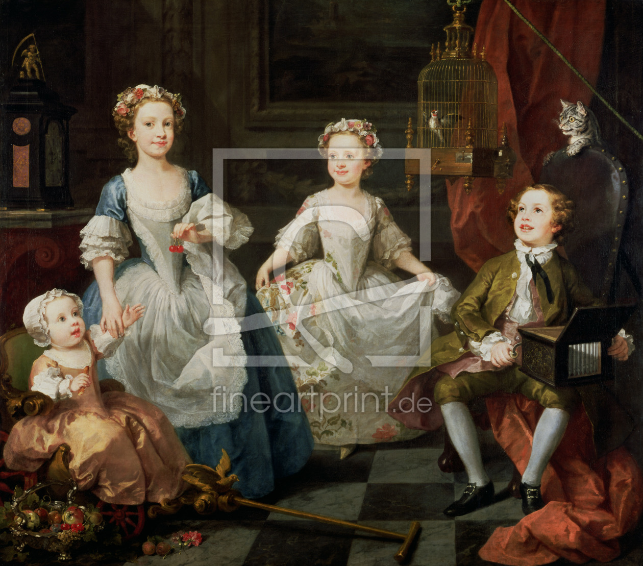 Bild-Nr.: 31000652 The Graham Children, 1742 erstellt von Hogarth, William