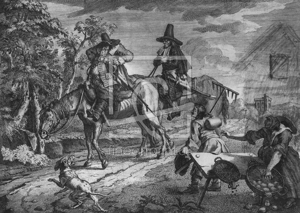 Bild-Nr.: 31000659 Hudibras Sallies Forth, Plate II, from 'Hudibras' by Samuel Butler, 1726 erstellt von Hogarth, William