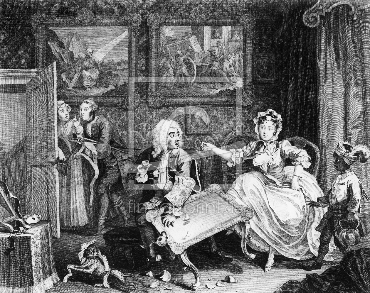 Bild-Nr.: 31000663 A Harlot's Progress, plate II, Quarrels with her Jew Protector erstellt von Hogarth, William