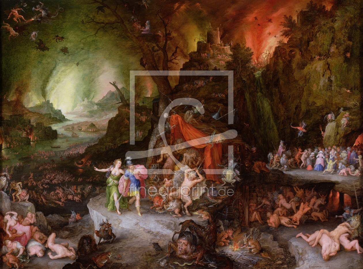 Bild-Nr.: 31000690 Aeneas and the Sibyl in the Underworld, 1598 erstellt von Jan Brueghel the older