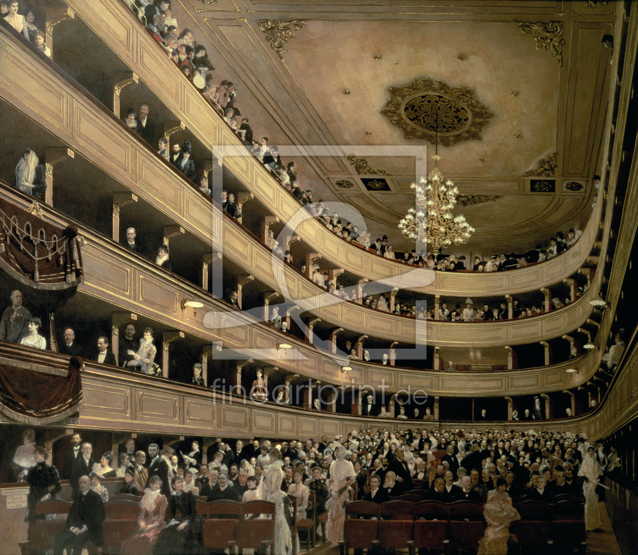 Bild-Nr.: 31000718 The Auditorium of the Old Castle Theatre, 1888 erstellt von Klimt, Gustav