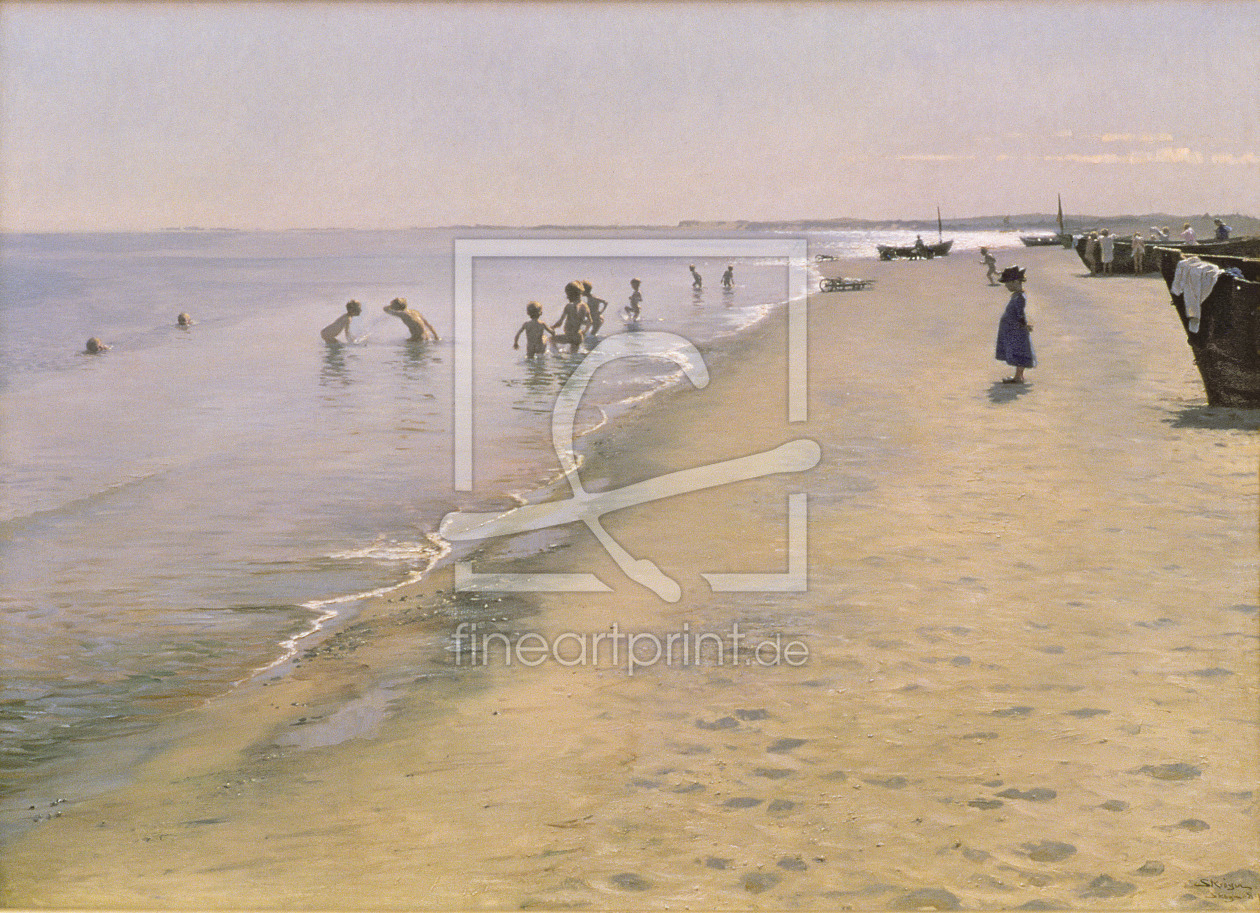 Bild-Nr.: 31000735 Summer Day at the South Beach of Skagen, 1884 erstellt von Kroyer, Peter Severin