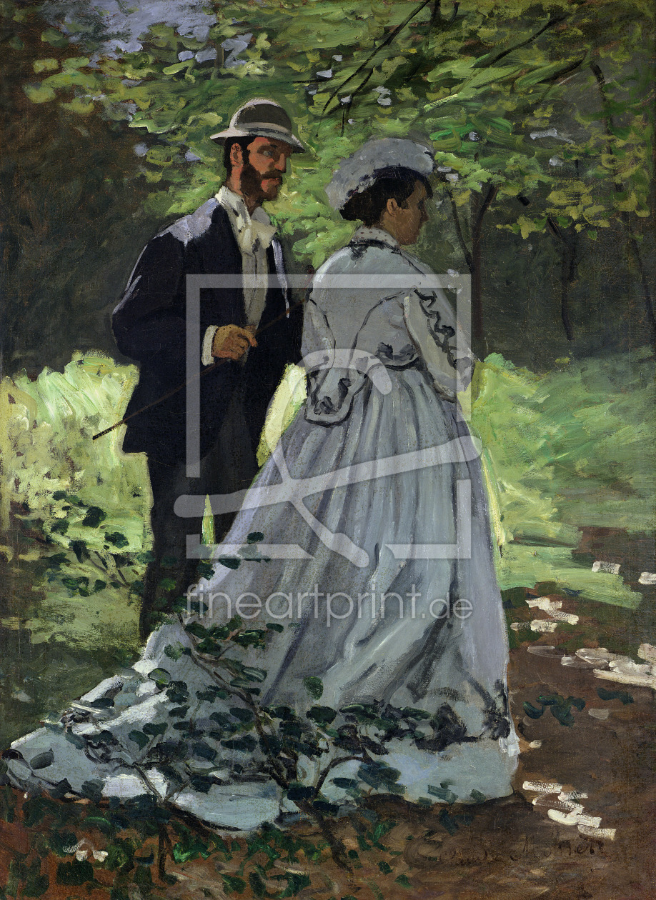Bild-Nr.: 31000838 The Promenaders, or Claude Monet Bazille and Camille, 1865 erstellt von Monet, Claude