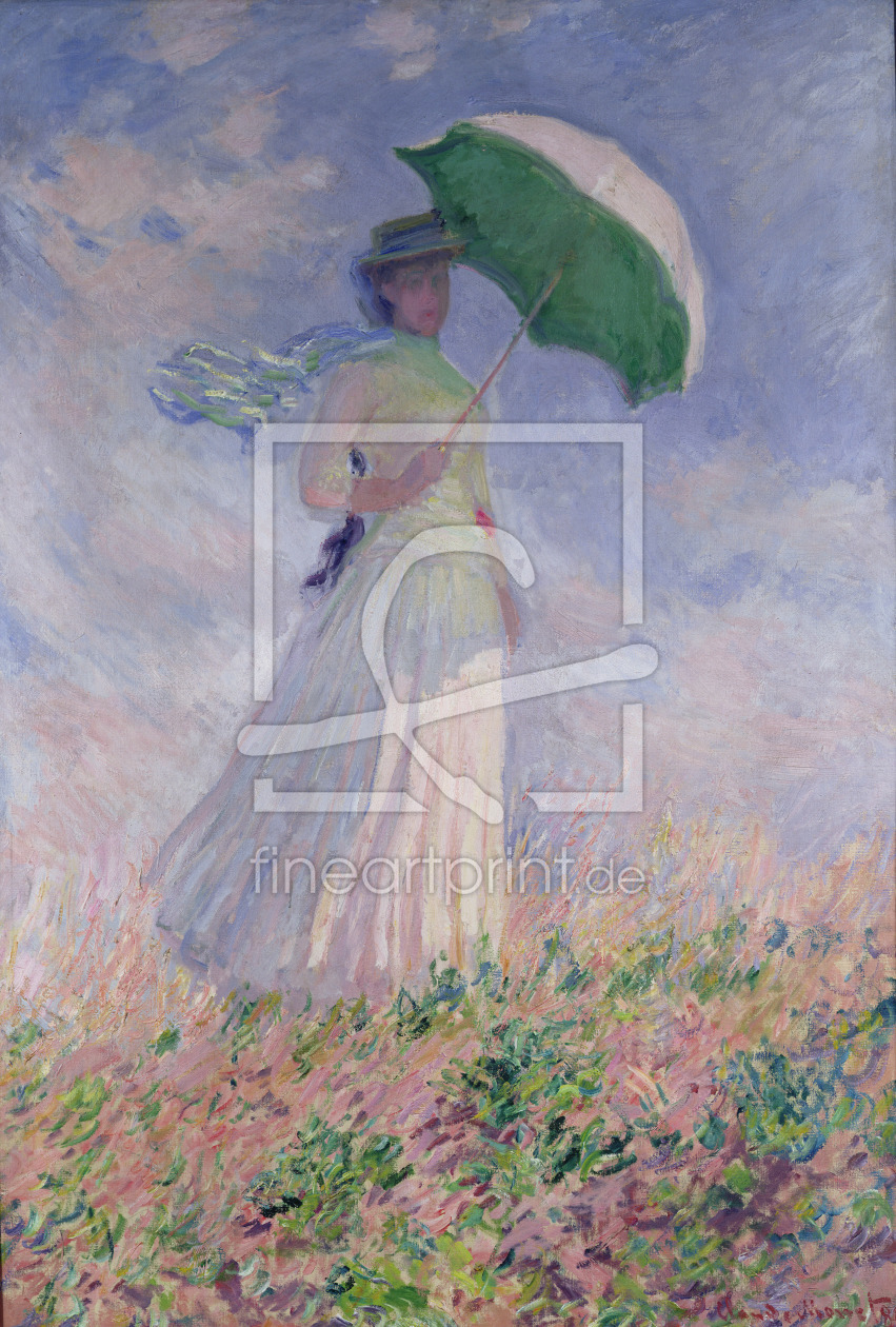 Bild-Nr.: 31000841 Woman with a Parasol turned to the Right, 1886 erstellt von Monet, Claude