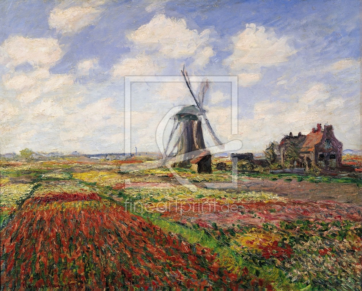 Bild-Nr.: 31000876 Tulip Fields with the Rijnsburg Windmill, 1886 erstellt von Monet, Claude