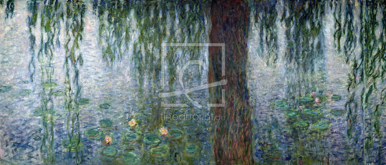Bild-Nr.: 31000919 Waterlilies: Morning with Weeping Willows, detail of the left section, 1915-26 erstellt von Monet, Claude