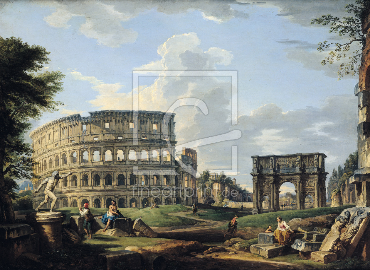 Bild-Nr.: 31000940 The Colosseum and the Arch of Constantine erstellt von Pannini, Giovanni Paolo
