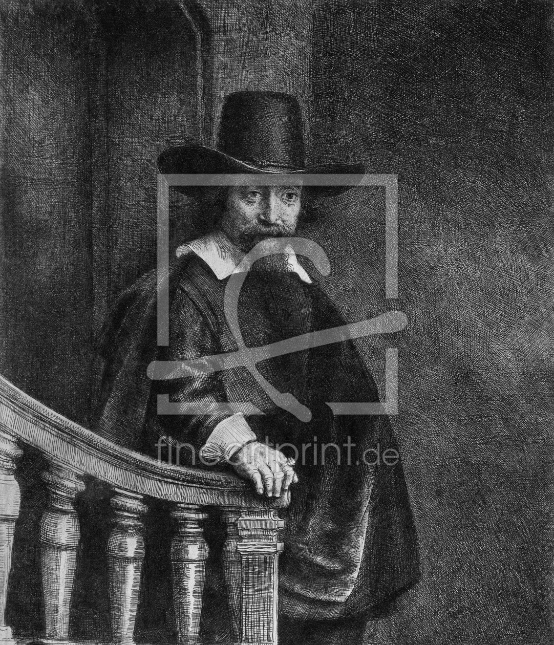 Bild-Nr.: 31001025 Ephraim Bonus, known as 'The Jew with the Banister' 1647 erstellt von Rembrandt Harmenszoon van Rijn