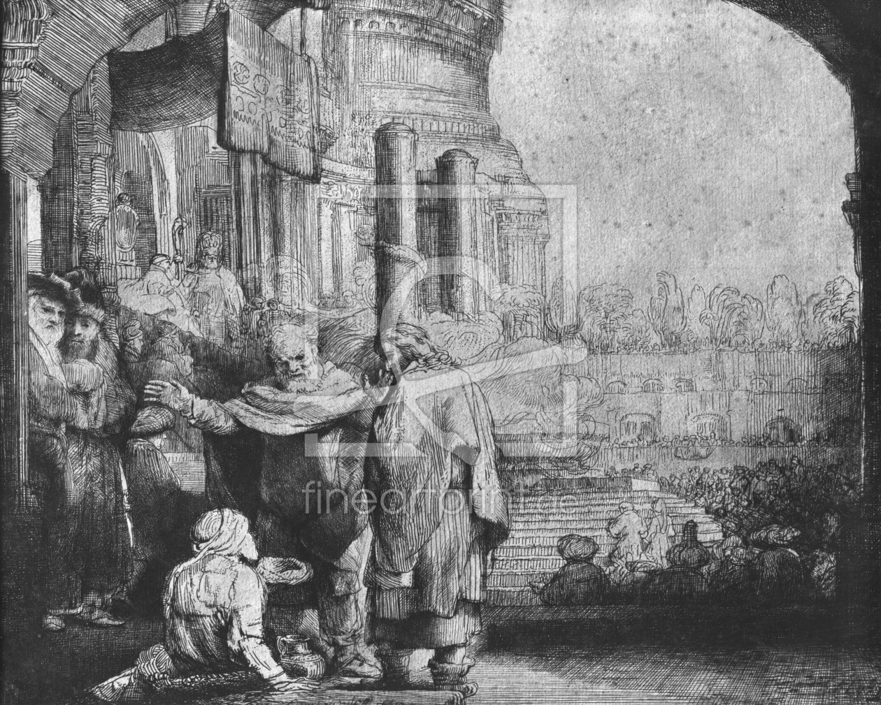 Bild-Nr.: 31001048 St. Peter and St. John at the Entrance to the Temple, 1649 erstellt von Rembrandt Harmenszoon van Rijn