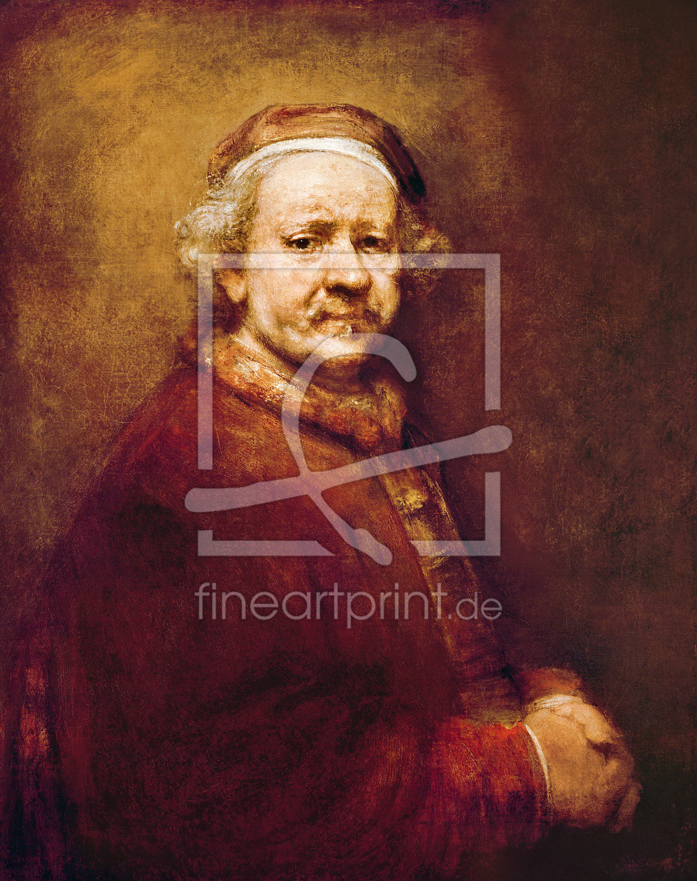 Bild-Nr.: 31001067 Self Portrait in at the Age of 63, 1669 erstellt von Rembrandt Harmenszoon van Rijn