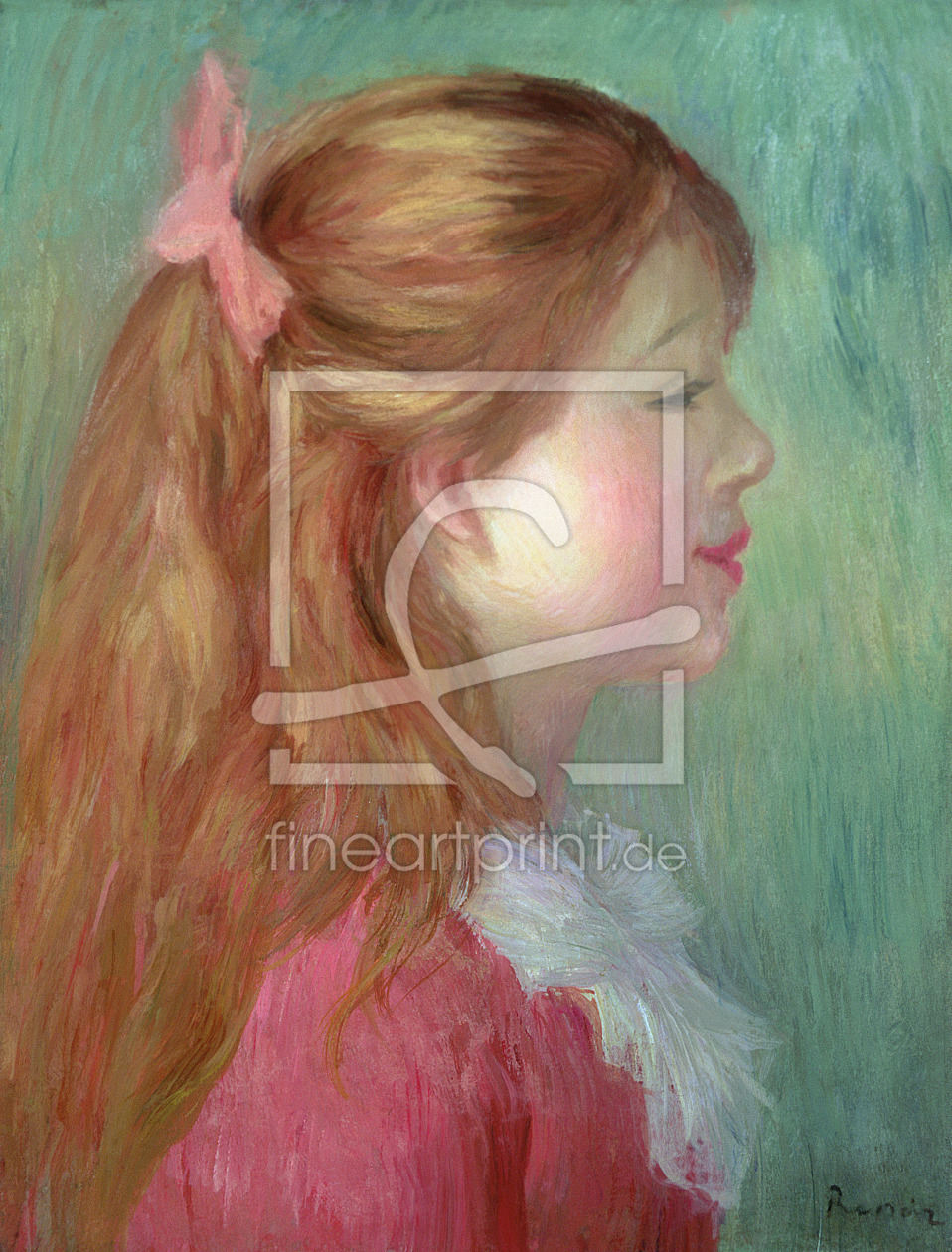 Bild-Nr.: 31001132 Young girl with Long hair in profile, 1890 erstellt von Renoir, Pierre-Auguste