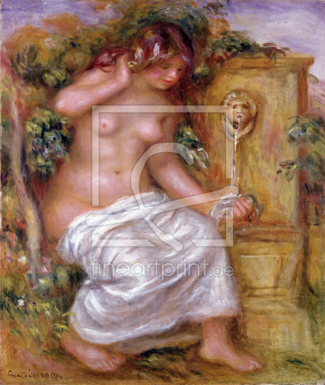 Bild-Nr.: 31001141 The Bather at the Fountain, 1914 erstellt von Renoir, Pierre-Auguste