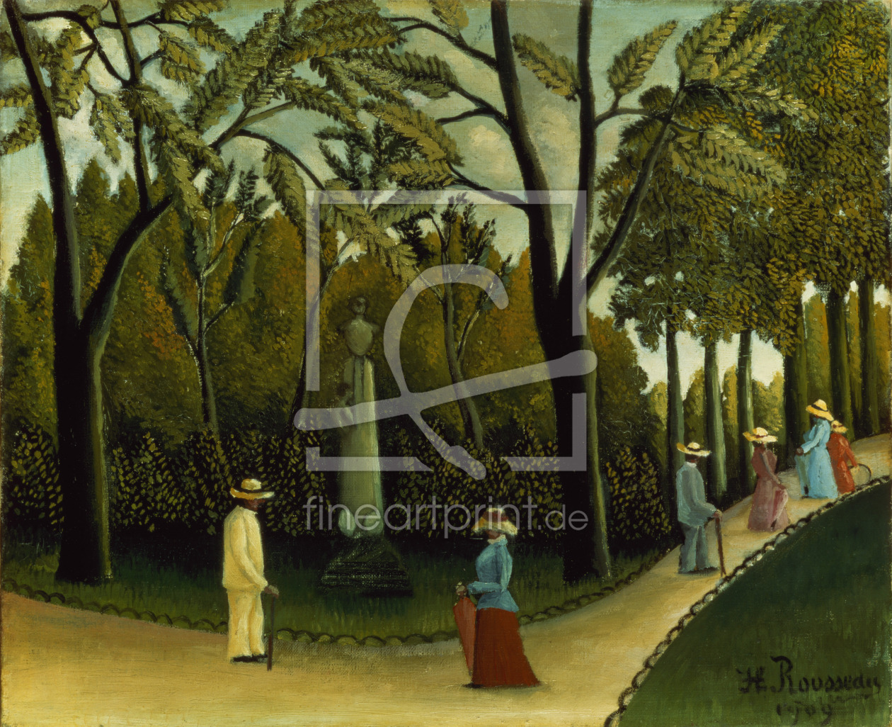 Bild-Nr.: 31001166 The Monument to Chopin in the Luxembourg Gardens, 1909 erstellt von Rousseau, Henri Julien Felix