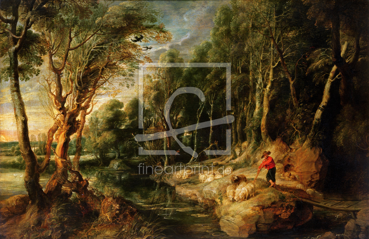 Bild-Nr.: 31001178 A Shepherd with his Flock in a Woody landscape, c.1615-22 erstellt von Rubens, Peter Paul