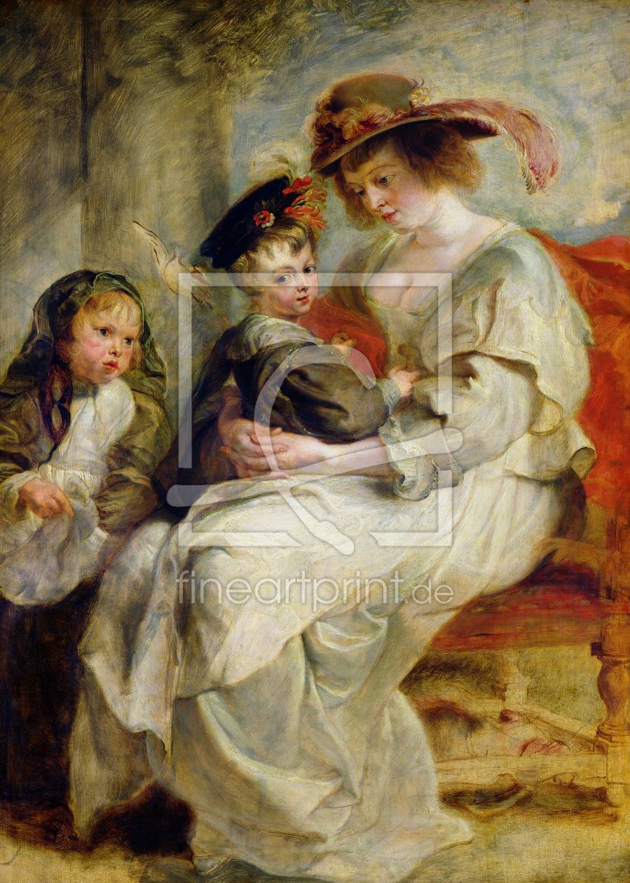 Bild-Nr.: 31001183 Helene Fourment with Two of her Children, Claire-Jeanne and Francois, c.1636-37 erstellt von Rubens, Peter Paul