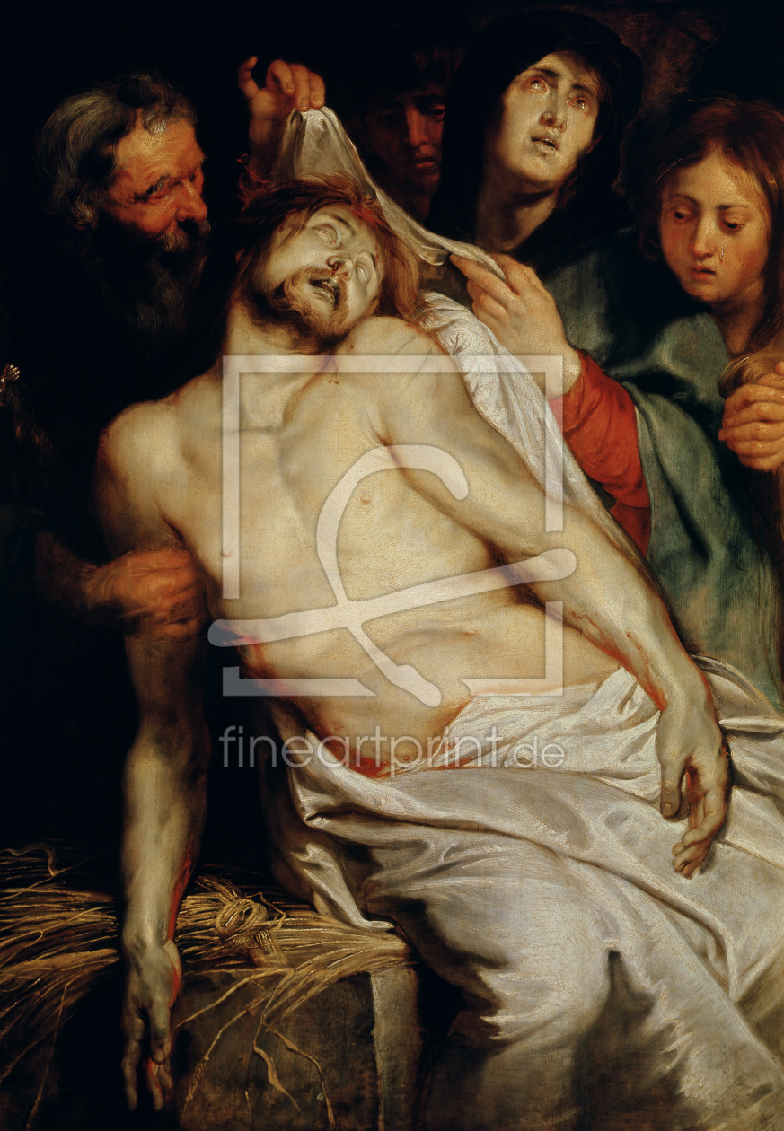 Bild-Nr.: 31001208 Triptych of Christ on the Straw, centre panel depicting the Lamentation of Chris erstellt von Rubens, Peter Paul