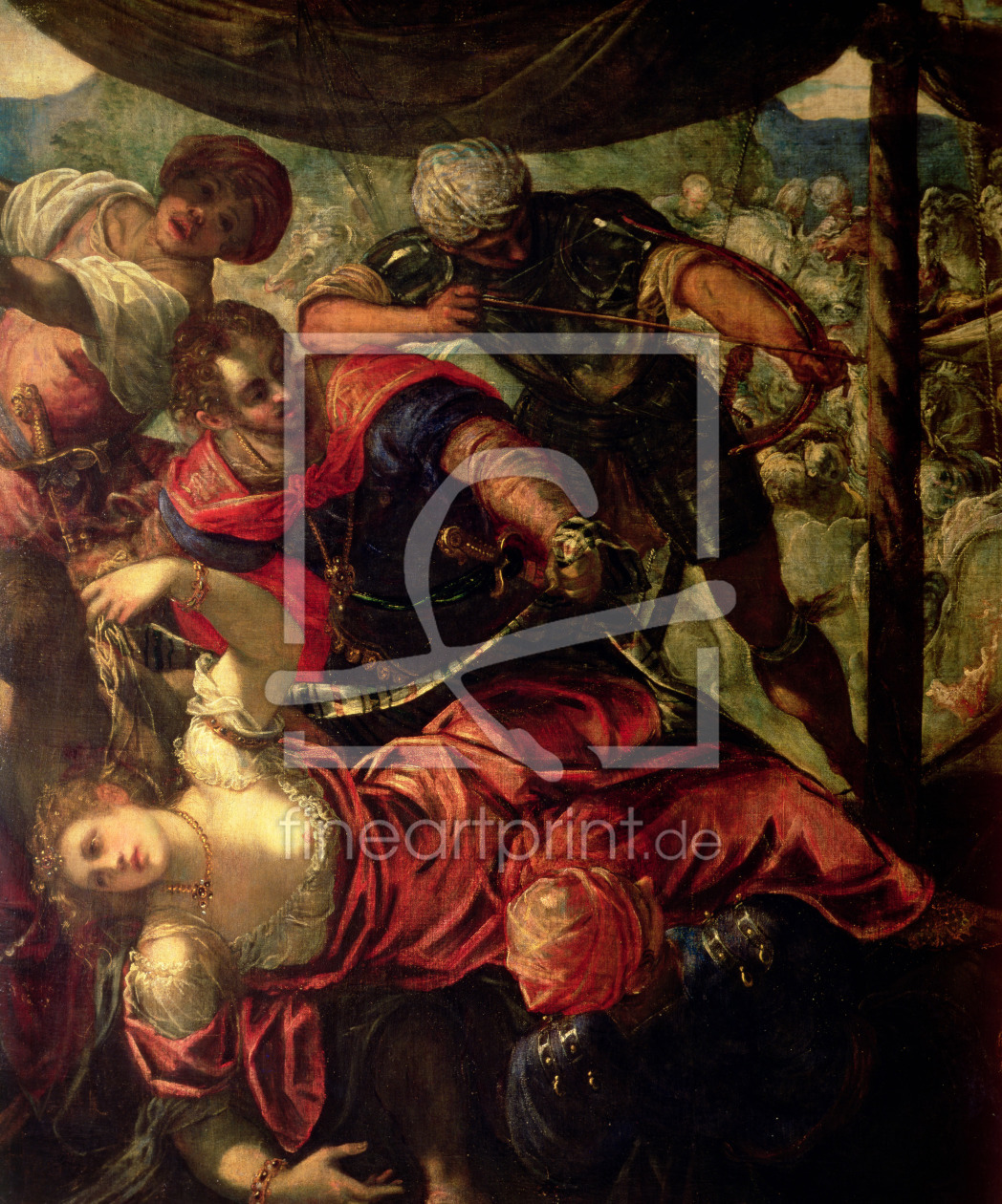 Bild-Nr.: 31001242 Battle between Turks and Christians, c.1588/89 erstellt von Tintoretto, Jacopo