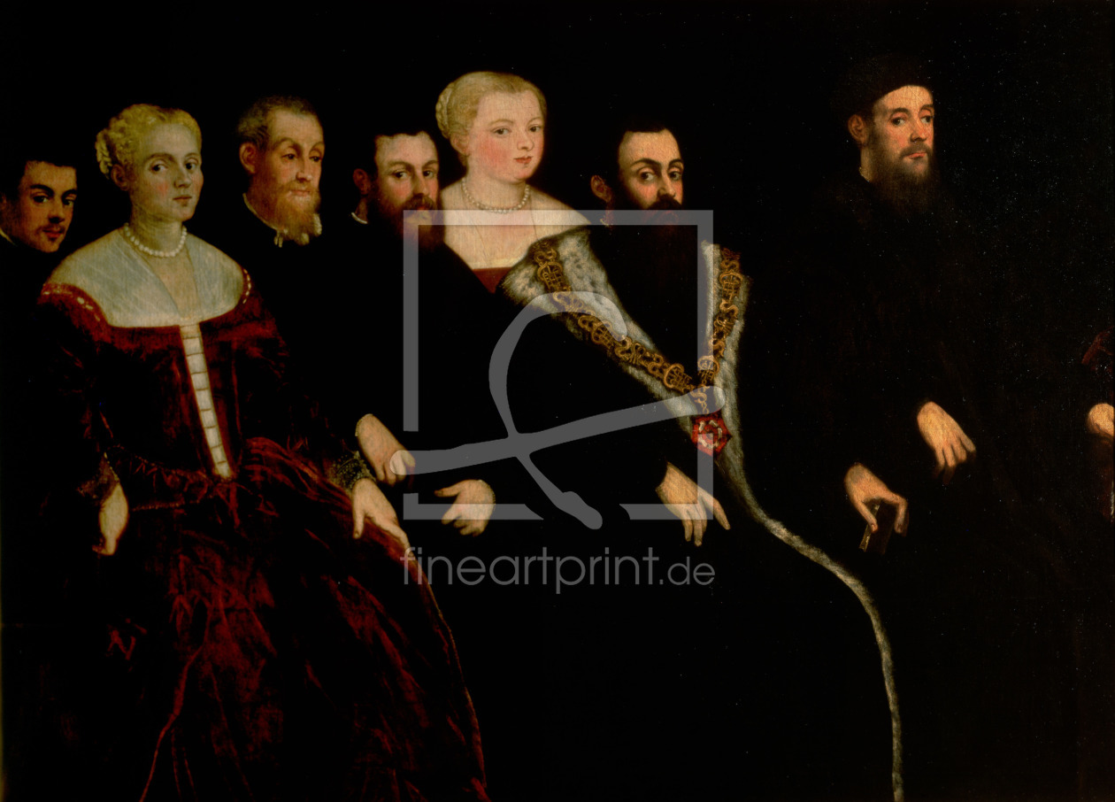 Bild-Nr.: 31001245 Seven members of the Soranzo Family erstellt von Tintoretto, Jacopo