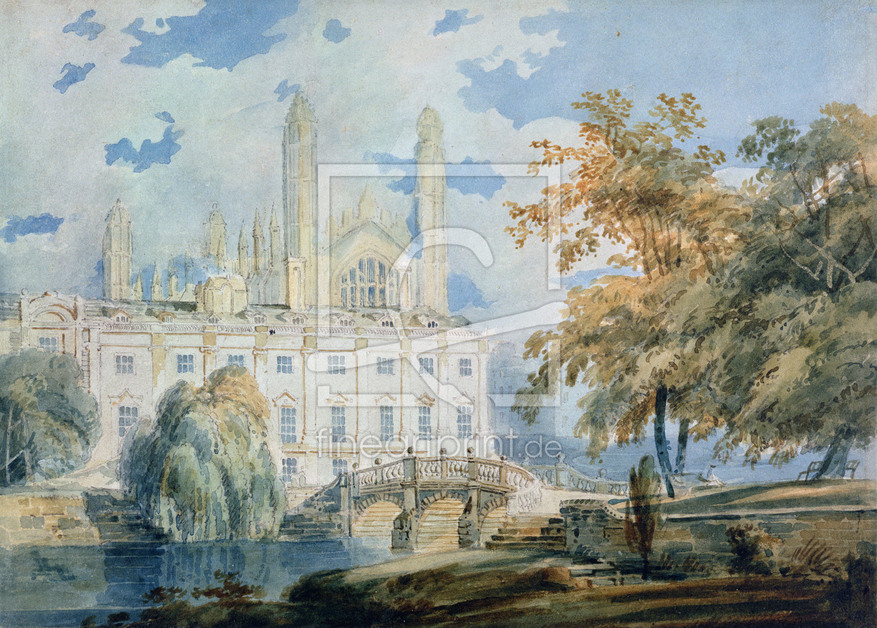 Bild-Nr.: 31001256 Clare Hall and the West End of King's College Chapel, Cambridge, from the banks  erstellt von Turner, Joseph Mallord William