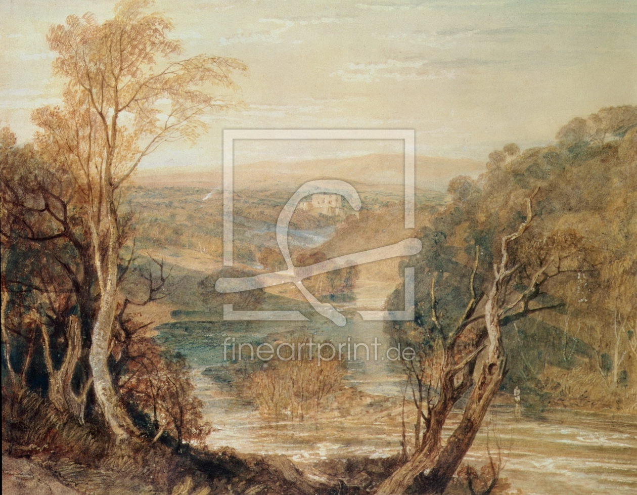 Bild-Nr.: 31001272 The River Wharfe with a distant view of Barden Tower erstellt von Turner, Joseph Mallord William