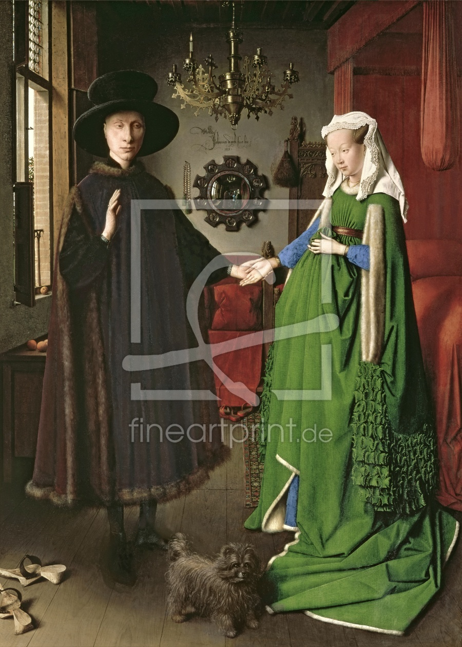 Bild-Nr.: 31001317 The Portrait of Giovanni Arnolfini and his Wife Giovanna Cenami 1434 erstellt von van Eyck, Hubert & Jan