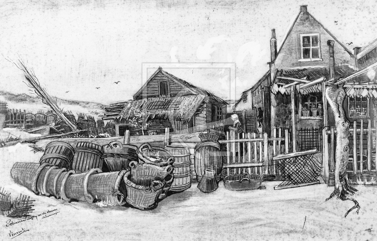 Bild-Nr.: 31001325 The fish drying barn at Scheveningen, c.1882 erstellt von van Gogh, Vincent