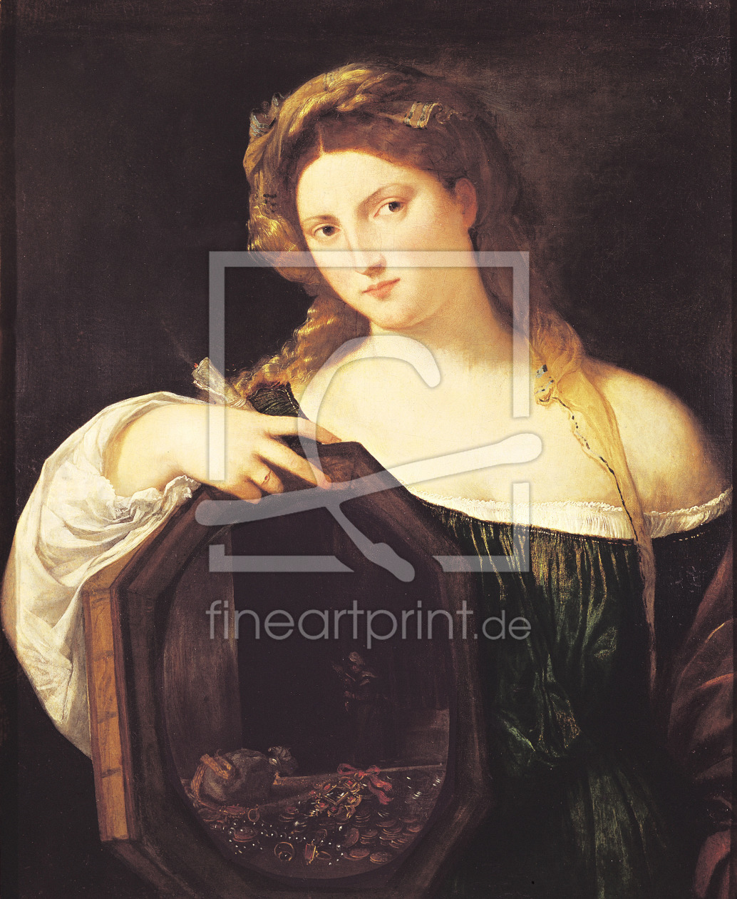 Bild-Nr.: 31001379 Allegory of Vanity, or Young Woman with a Mirror, c.1515 erstellt von Vecellio, Tiziano