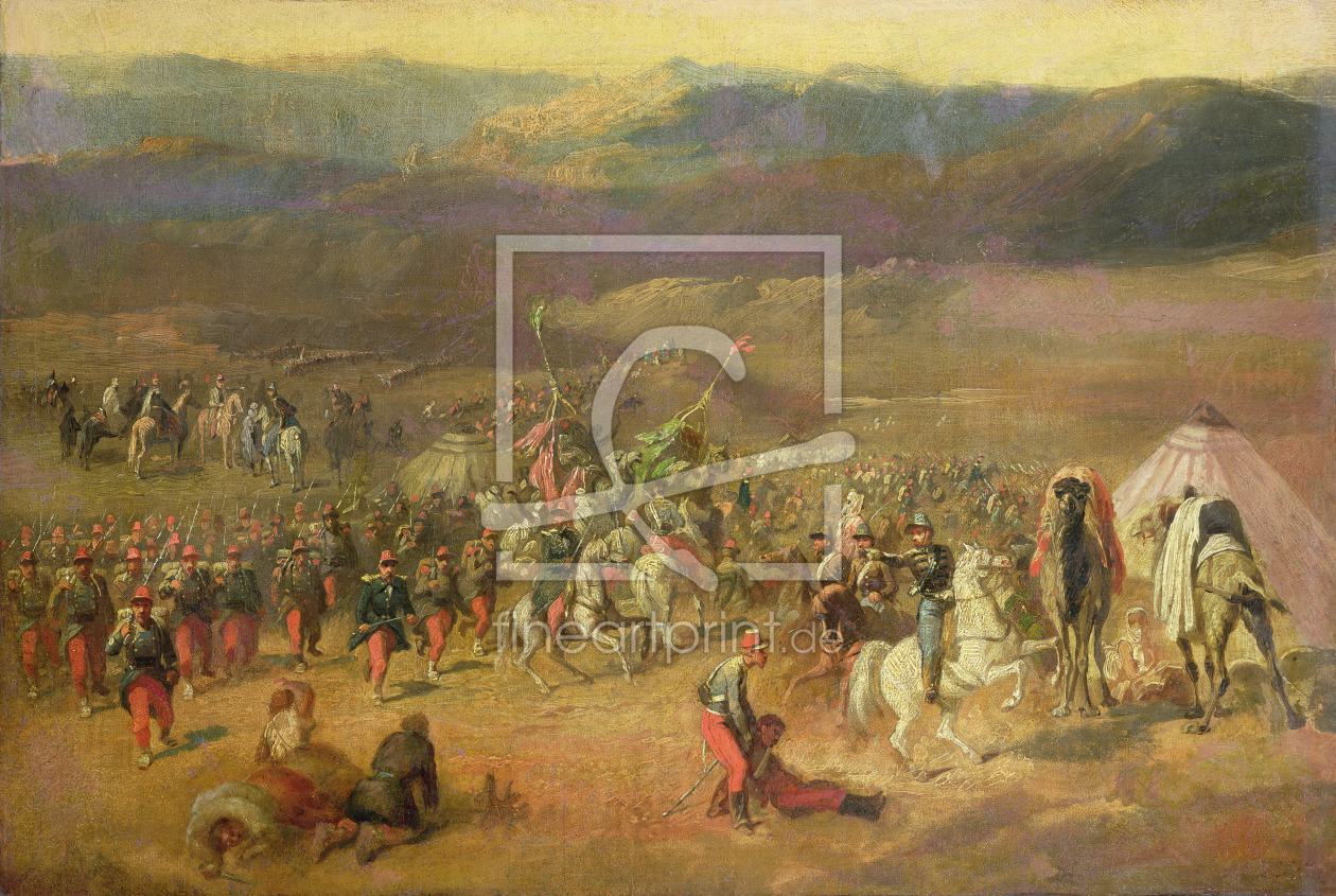 Bild-Nr.: 31001404 The Capture of the Retinue of Abd-el-Kader or, The Battle of Isly on August 14th erstellt von Vernet, Horace