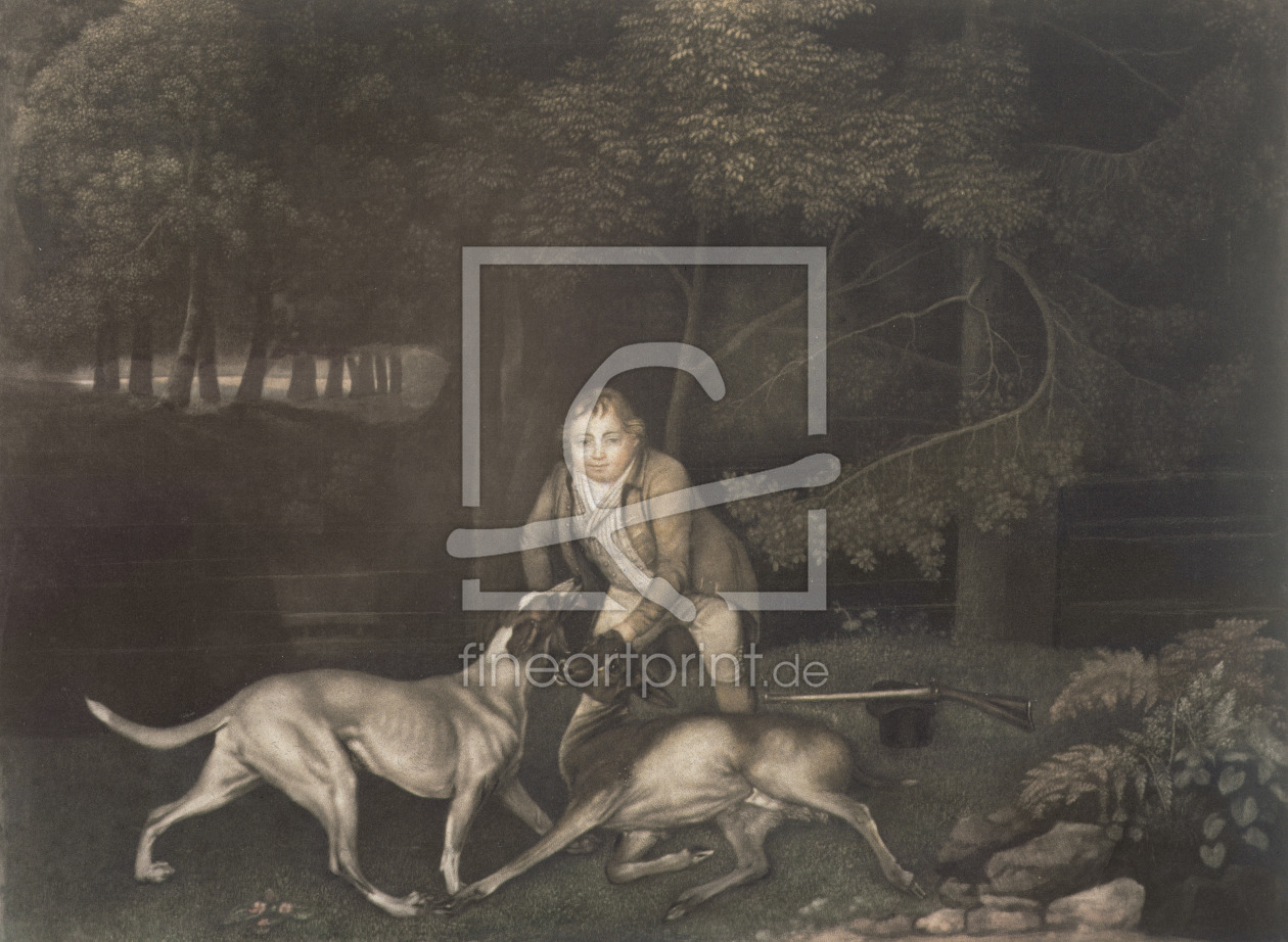 Bild-Nr.: 31001426 Freeman, Keeper to the Earl of Clarendon, with a hound and a wounded doe, 1804 erstellt von Stubbs, George
